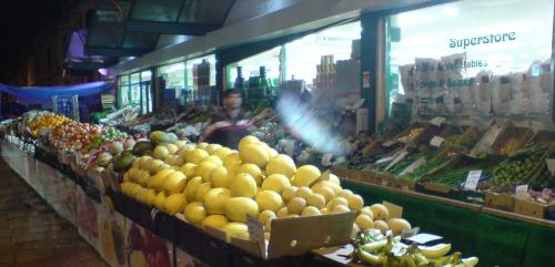 The fruit stall outside Sharif & Sons